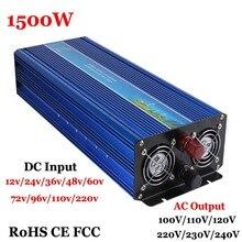 1500 W 60 V/72 V/96 V/110 V/220VDC до 110 V/220VAC решетки чистая синусоида Однофазный солнечный или инвертор ветровой энергии, усилитель 3000 W