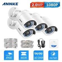 ANNKE 1080P IP Camera System w/ 4x 2.0MP 1920TVL White Dome Surveillance Camera Kit, IP66 Weatherproof Metal