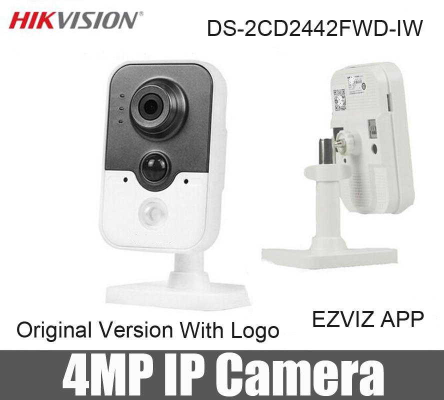 bilder für Hikvision 4MP wifi mini ip kamera cam DS-2CD2442FWD-IW ersetzen DS-2CD2432F-IW 4 mega pixel CCTV IR Cube Netzwerkkamera