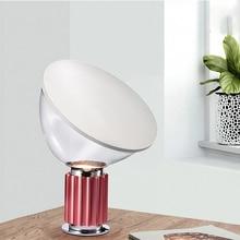 Nordic INS Radar Table Lamp Post-modern Simple Personality Creative Metal Glass Bedroom Model Room Design Desk Led