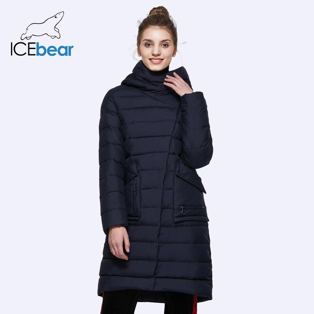 655ab44da2 ICEbear 2018 invierno moda mujer Abrigos de algodón para mujer traje Casual  chaqueta cálida Parker 16G6233D en Parkas de La ropa de las mujeres en ...