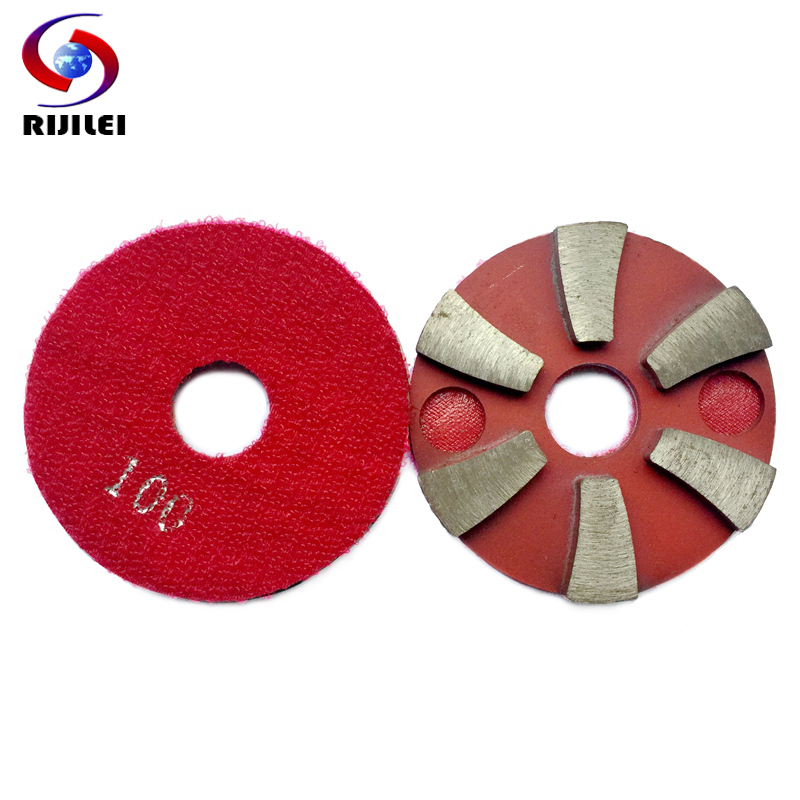 Diamond Polishing Pad 4 Inch 100 Mm Wet Sander Disc For Granite Stone Resin Circle Polishing Wheel 9 Pcs/lot