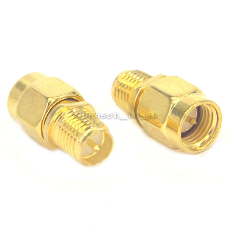 2 Pieces RF SMA Connector RP SMA Female to SMA Male Plug Connector Adapter Goldplated Straight джинсы blendshe blendshe bl021ewjiq86