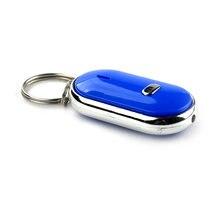 Nouveau détecteur de clé intelligent sifflet capteurs blanc 1 pièces porte-clés son LED avec sifflet Claps localisateur trouver la clé perdue #25