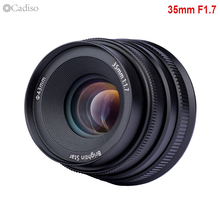 Cadiso 35 1,7 35mm F1.7 Große Blende Manueller Fokus Kamera Objektiv für Canon Sony NEX5 A6500 A7 II fuji 4/3 Montieren Spiegellose Kamera