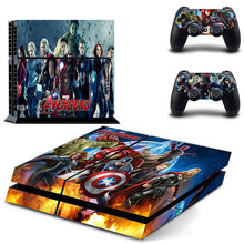 Avengers Skin Sticker Cover for Sony PS4 PlayStation 4 and 2 controller skins