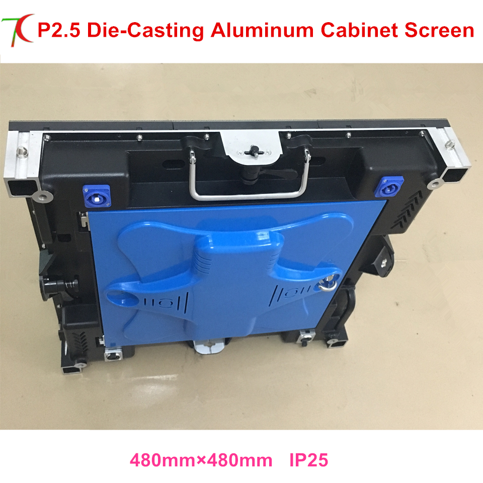 480*480mm 32scan P2.5 indoor die-casting aluminum cabinet for hd real led display,1600cd