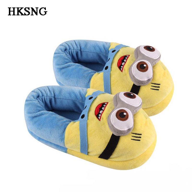 HKSNG Winter Animal Adult Pikachu Shark Panda Stitch Slippers Paw  Claw Indoor Floor Home Shoes Christmas Gift