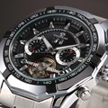 2016 New Series Forsining Tourbillon Design Clock Men Automatic Watch Skeleton Military Watch Mechanical Relogio Male Erkek Saat
