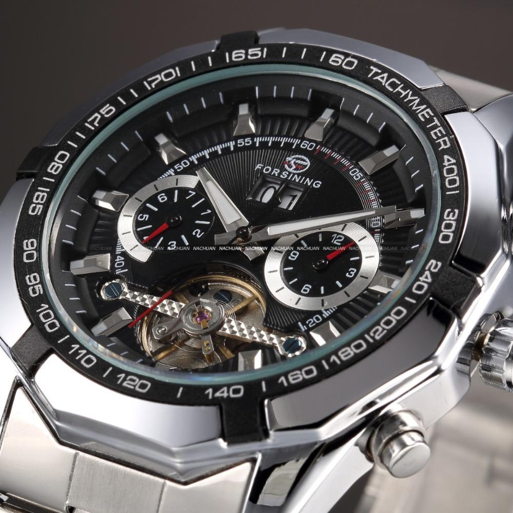 Prix pour 2016 Nouvelle Série Forsining Tourbillon Design Horloge Hommes Montre Automatique Squelette Militaire Montre Mécanique Relogio Mâle Erkek Saat