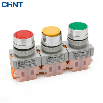 CHINT Button Switch Since Reset NP4-11BN Flat Button Switch Reset Switch Button Normally Open Often Close optimized button tact switch limit switch xce 110 direct acting 1p one normally open and one normally closed