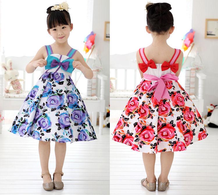 Aliexpress.com : Buy Kids Girls Flower Dress Weding Party Floral ...