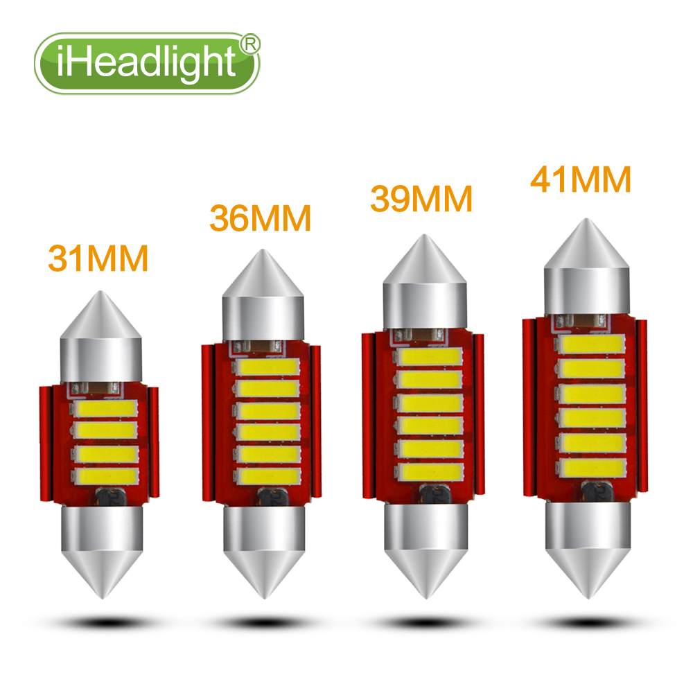 2pcs 31 36mm 39 41mm C5W 4014 LED canbus no error car reading light Interior white car Lights Lamp Auto Map Roof Reading Bulbs 31mm 36mm 39mm 41mm c5w c10w canbus no error auto festoon light 12 smd 4014 led car interior dome lamp reading bulb white dc 12v