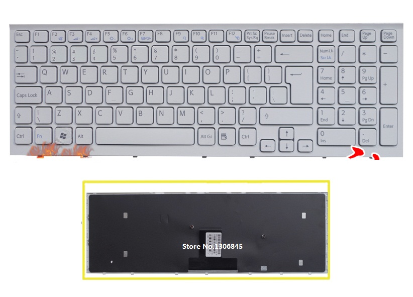 UI Keyboard English white For Sony Vaio VPC-EB VPC EB pcg-71211v VPCEB36FG VPCEB4J1R laptop keyboard