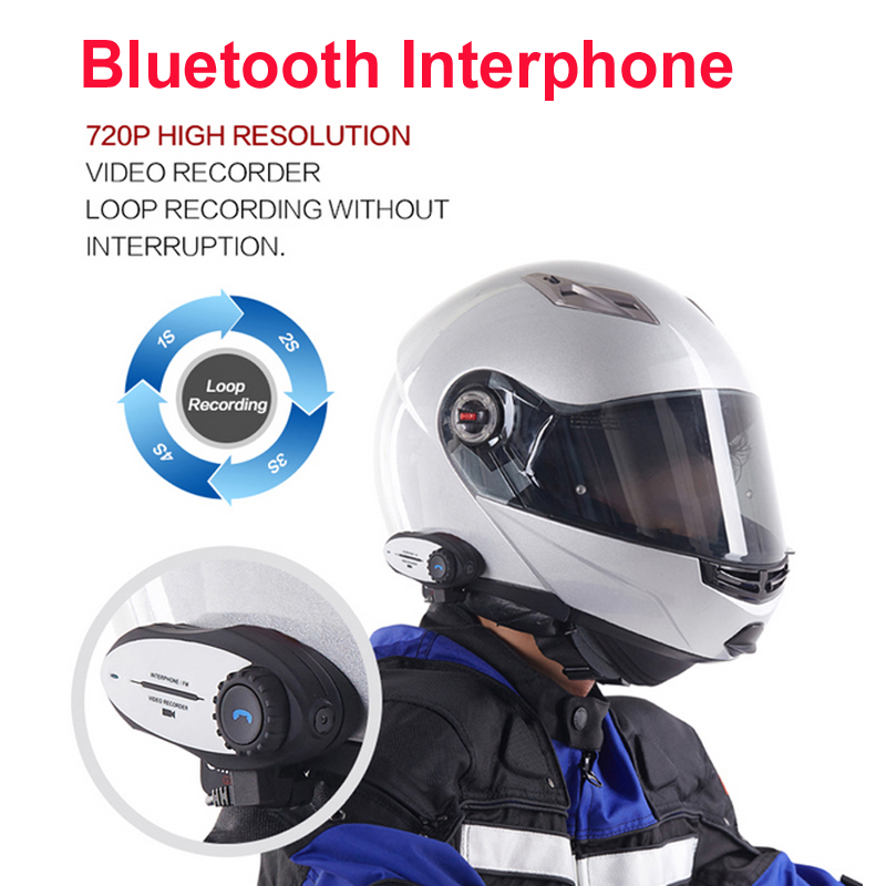 sale multi interphone bluetooth intercom 720p video recorder sports camera motorcycle headphone. Black Bedroom Furniture Sets. Home Design Ideas