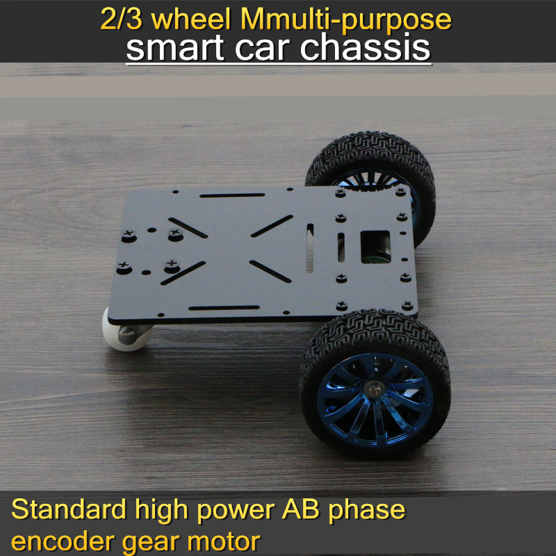 Smart car chassis high power encoder gear motor speed detection patrol obstacle avoidance remote control robot