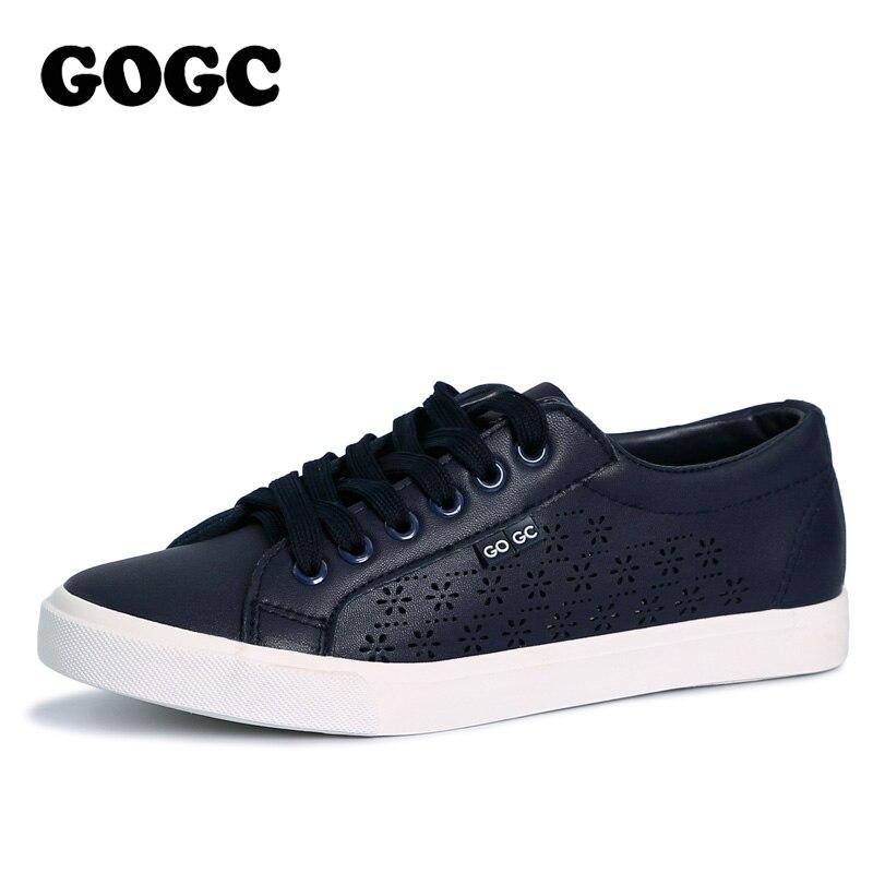 GOGC Design Shoes Women Luxury 2018 Breathable Summer Flats Women's Shoes Women Slipony Shoes with Hole Women's Vulcanize Shoes pa4220e24
