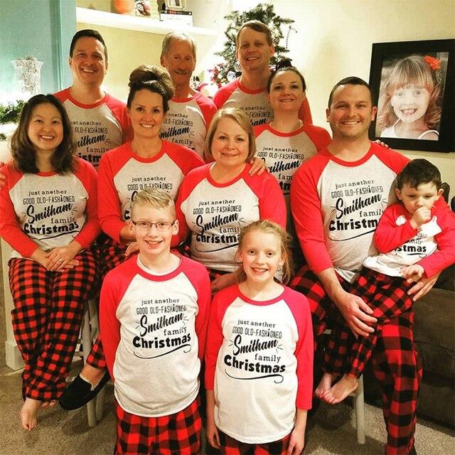 2018 Pijamas De Navidad Familia Padre Hijo Ropa A Juego Mama E Hija