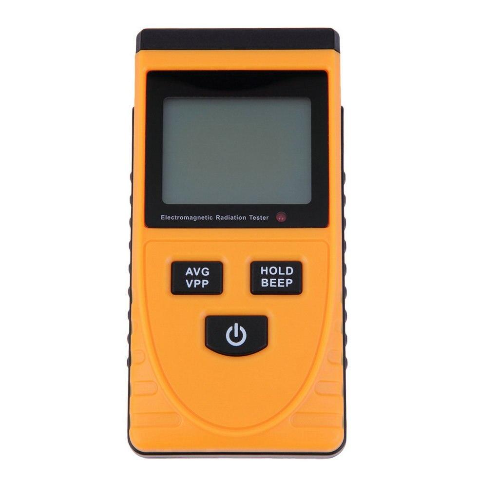 Novo Som-luz de Alarme LCD Digital Radiação Eletromagnética Detector Medidor Dosimeter Teste Síncrona Bimodule Tester Contador
