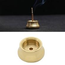 1pc Bowl Shape Brass Incense Burner Holder for Incense Stick Incense Base Living Room Decoration