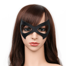 Harley Quinn Costume Black Red Leather Eye Mask Batman Harley Quinn Cosplay Sexy Eye Mask Eyewear Halloween Cosplay Accessories