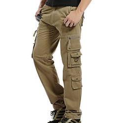 2018 Горячие Тактический для мужчин s штаны-карго хлопок повседневное Военная униформа брюки для девочек одноцветное Pantalon Homme