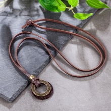 Men's Vintage Style Leather Necklace