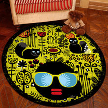 Cartoon Round Carpet Soft Carpets Anti-slip Rugs Living Room Bedroom Computer Chair Mat Floor Mat for Kids Room Home Decor(China)