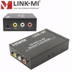 LINK-MI LM-SAV1 HD/SD/3G-SDI to CVBS Converter cvbs video and sound transmission 2 Ways SDI splitter for Monitor Camera Display