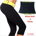 ( Pants+Belt) Super stretch set Hot Shapers  pants set Women's Slimming Sets Body shaper Waist  corsets 2016 Hot