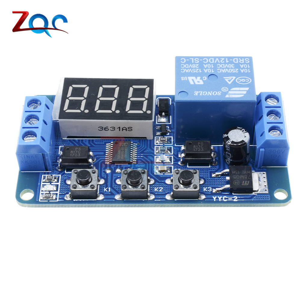DC 12V LED Digital display Home Automation Delay Relay Trigger Time Circuit  Timer Control Cycle Adjustable Switch Relay Module-in Relays from Home ...