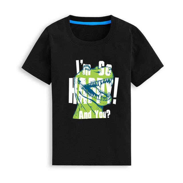 Camisa del bebé Camiseta de Los Muchachos embroma la ropa Camisetas de Alta Calidad de Dibujos Animados dinosaurio Bebé niños Niños moda Tops Camiseta de Vestuario