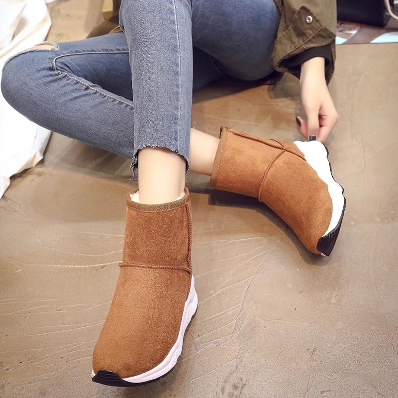 4787559f HQFZO alta calidad clásico de las mujeres botas de invierno mujer cómoda  suave nieve botas mujer botas de invierno zapatos de invierno de mujer  botas de ...