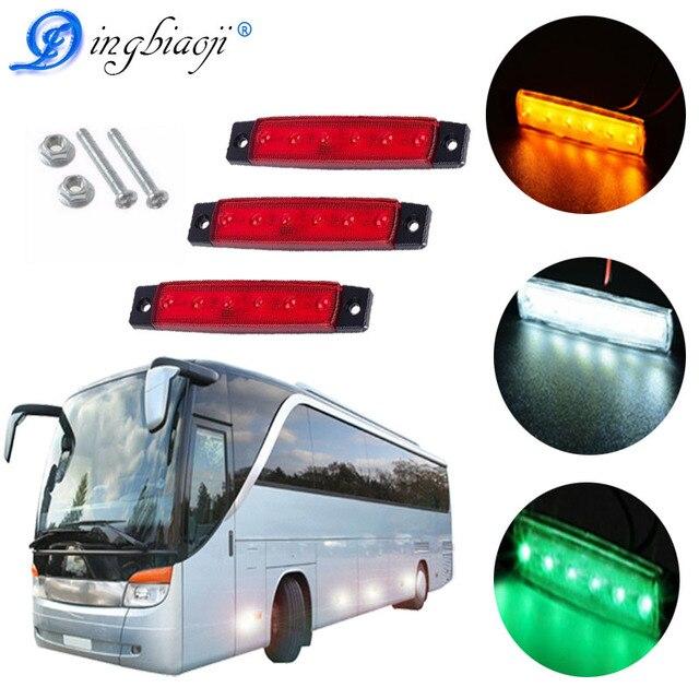 12 V 24 V 6LED Indicatore Laterale Indicatori Luci lampada Per Auto Camion Rimorchio del Camion 6 LED Ambra Clearence Bus