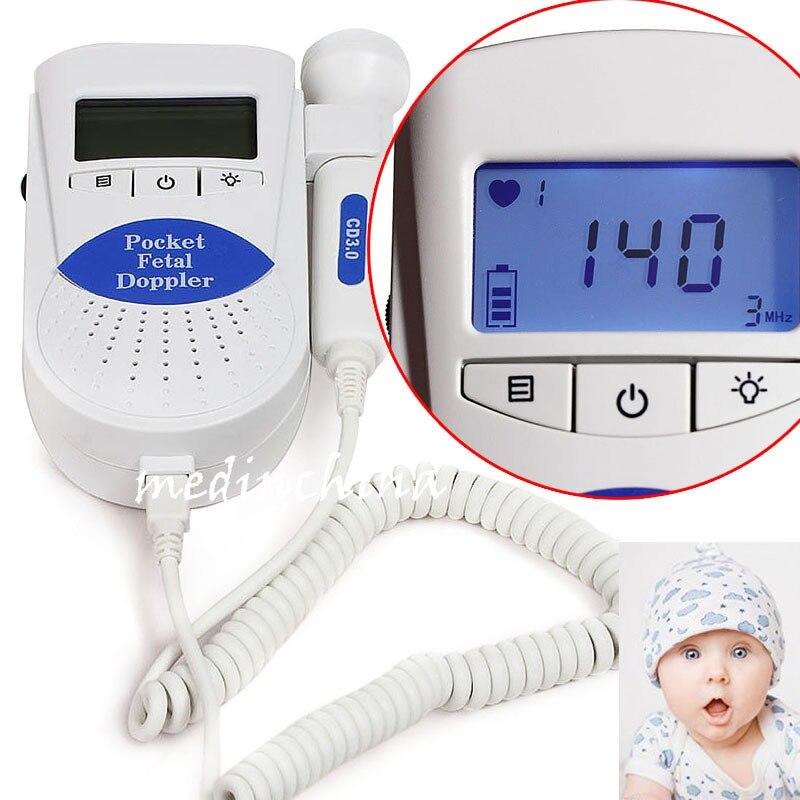 FDA Baby Heart Beat Monitor, 3Mhz probe Fetal Dopler, Sonoline B+ Gel +battery CONTEC   FDA Baby Heart Beat Monitor, 3Mhz probe Fetal Dopler, Sonoline B+ Gel +battery CONTEC