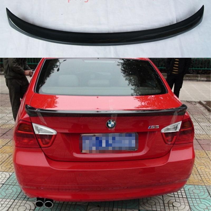 For BMW E90 Spoiler Carbon Fiber Material Spoiler For BMW E90 M3 320i 320li 325li 328i Spoiler For E90 Spoiler спойлер bmw e90 318i 320i 325i 330i m3
