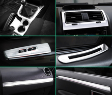 silver item for haval H5 2013-2018 Console gear position Glass lifting switch panel Interior Decoration frame Stainless steel