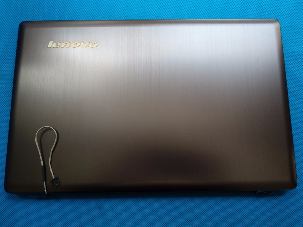 New/Orig Lenovo Ideapad Z580 Top Lcd rear back cover 3CLZ3LCLV00 Metallic Grey Laptop Replace Cover