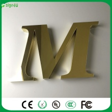 Factory Outlet Outdoor 3D stainless steel sign letters, 3D metal car logo sign