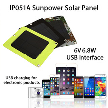 Solar Charger Panel USB Port 6.8W 6V Portable Mobile Power Phone Charger Solar Generator Solar Panel Camping
