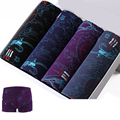 4pcs Mens  Printed modal Boxer Men Boxer Shorts Boxers Mens Underwear underpants  waist 63-155cm  2XL-7XL