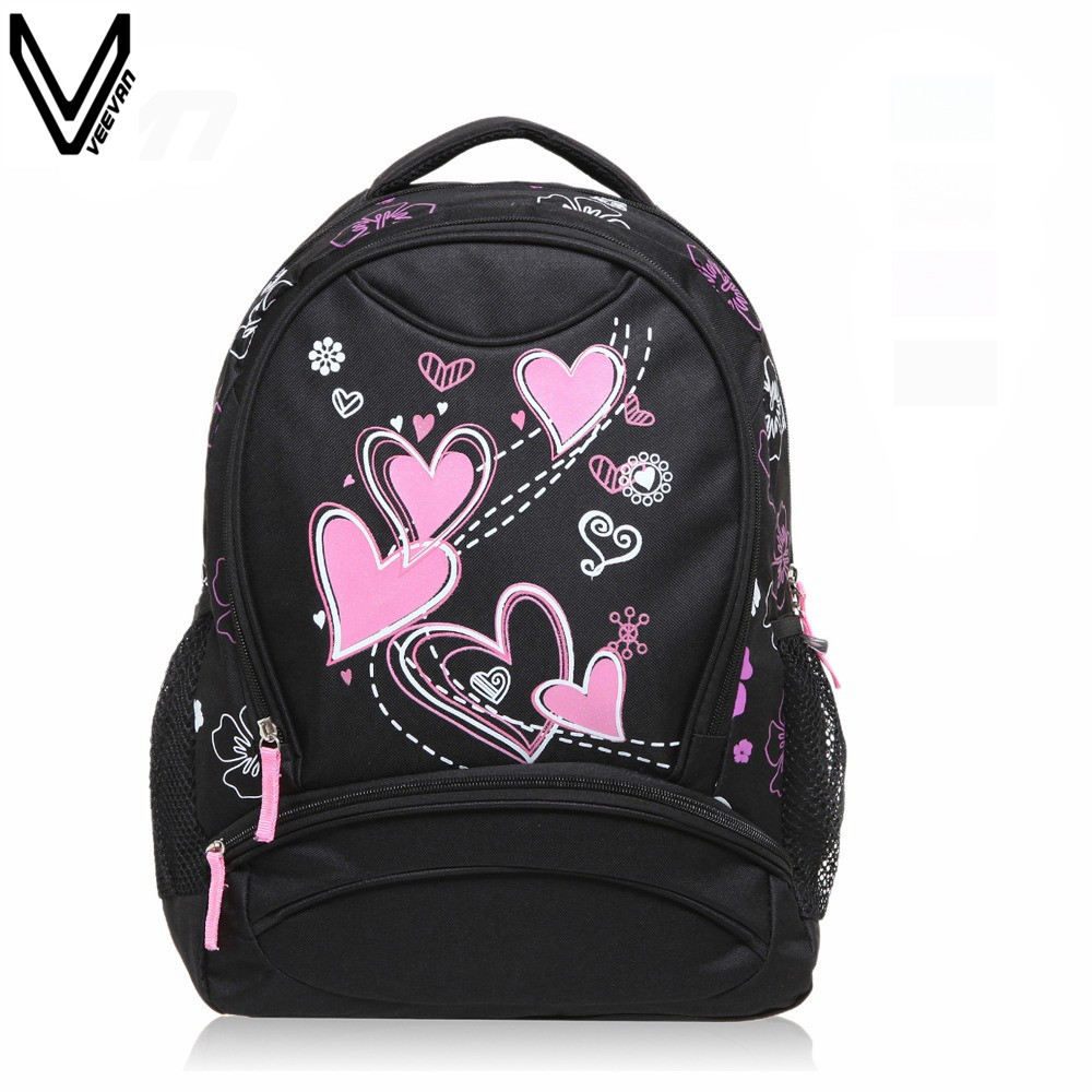 цены  VEEVANV 2016 Hot Sale School Bags For Girls Women Printing Backpack Cheap Shoulder Bag Wholesale Kids Children Backpacks