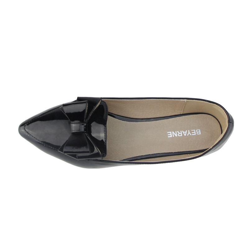 Image 4 - BEYARNE spring flats single shoes woman casual bow pointed toe shallow mouth by factory EU 33 43single shoespointed toeshoes woman -