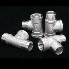 1/2 ''bsp мужской внутренняя резьба Нержавеющая сталь 20 мм тройник 3 Way Pipe Fitting разъем 5 Тип адаптер для Соединительная трубка