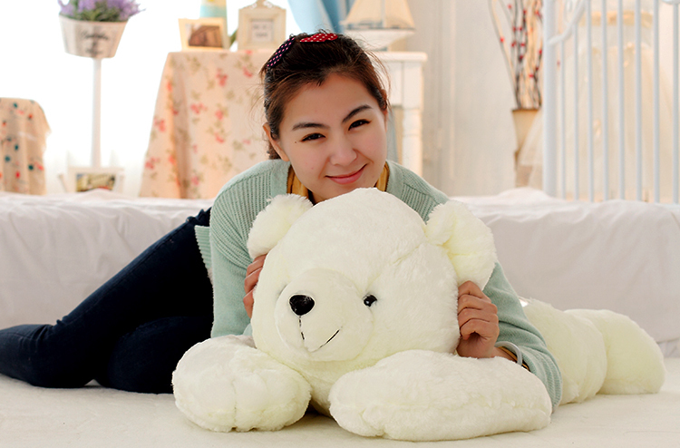 the polar bear toy huge white plush lying polar bear doll lovely bear doll gift about 90cm 0095 big cute simulation polar bear toy handicraft lovely white polar bear doll gift about 31x18cm