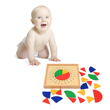 Baby Toys Circular Mathematics Fraction Division Teaching Aids Montessori Board Wooden Toys Child Educational Gift Math