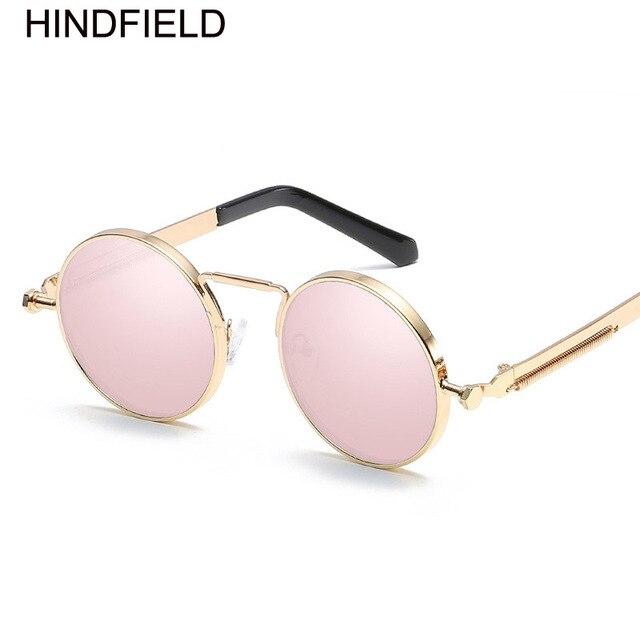 Round Sunglasses Women Brand Design Steampunk Sun Glasses Metal ...