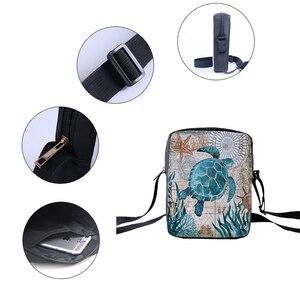 Image 4 - Bolsas carteiro femininas crowdale, mini bolsas casuais estampadas da vida marinha para crianças
