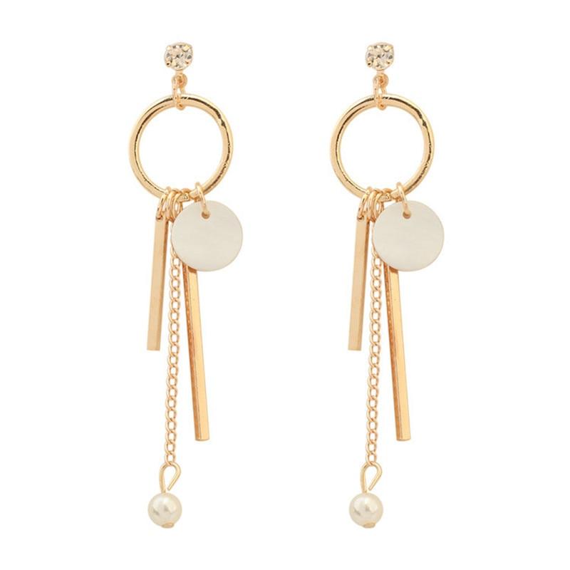 LPHZQH Women fashion jewelery Small fresh Circle tassel earrings Creative seashells long drop earings Christmas gift