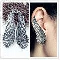 Новые ювелирные изделия античный посеребренная крыла перо клип стад серьги подарок для женщины девушка прохладный оптовая E2655